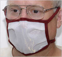 DUST-BEE-GONE Dust Mask,  size MEDIUM  less than 16
