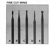 TUNGSTEN VANADIUM STUMP CUTTERS,  3/32