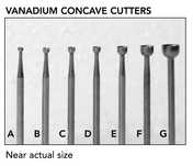 VANADIUM CONCAVE CUTTERS